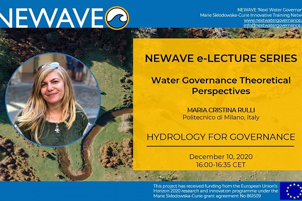 NEWAVE e-Lecture Series: [CANCELLED] Hydrology for governance | Prof. Maria Cristina Rulli