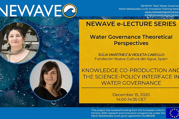 NEWAVE e-Lecture Series: Knowledge co-production and the science-policy interface | Dr. Julia Martínez & Dr. Violeta Cabello